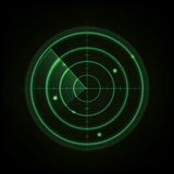 Glowing Radar Design Royalty Free Stock Photography