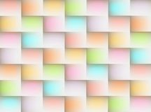 Glowing rainbow squares cubes geometric abstract background illustration Stock Images