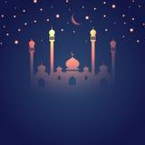 Glowing Ramadan themed Islamic design Royalty Free Stock Photography