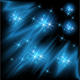 Glowing rays and stars Royalty Free Stock Image
