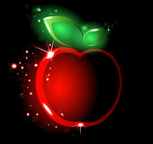 Glowing red apple Royalty Free Stock Photos