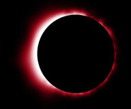 Glowing red eclipse Stock Photos