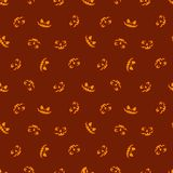 Glowing in the red eyes vector. Haloween seamless pattern. stock illustration