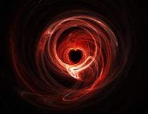 Glowing red heart Royalty Free Stock Photo