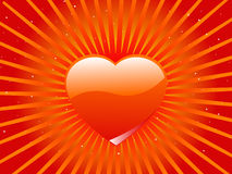 Glowing red heart Stock Image