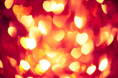Glowing red hearts background Royalty Free Stock Photography