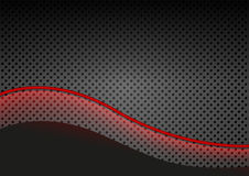 Glowing Red Line over Dotted Background Royalty Free Stock Images