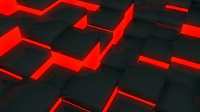 Glowing red tile stock video