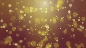 Dark glowing bokeh background. Glowing red yellow bokeh background with floating light particles stock footage