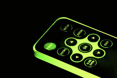 Glowing remote control Royalty Free Stock Photos