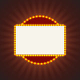 Glowing retro light banner for text. Royalty Free Stock Images