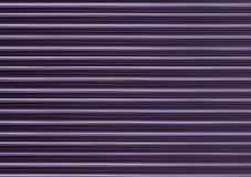 Glowing ribbed abstract gradient background purple lilac horizontal neon lines stock image