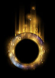 Glowing ring. With binary code - concept of information Royalty Free Stock Photo