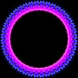 Glowing Ring. Abstract  colored glowing ring illustration for a background Stock Image