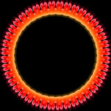 Glowing Ring. Abstract  colored glowing ring illustration for a background Royalty Free Stock Photo