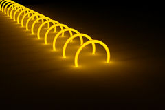 Glowing ring tunnel cyber background Royalty Free Stock Photo