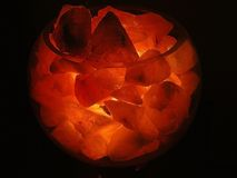 Glowing Rock Salt Bowl Stock Image