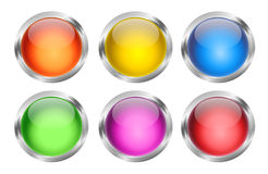 Glowing Round Web Buttons Royalty Free Stock Photos