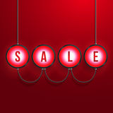 Glowing Sale Realistic Vector Background Stock Photography