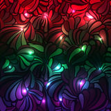 Glowing sea shell multicolored pattern on Stock Photography