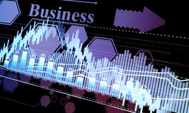 glowing sheet beznes statisti Stock Image
