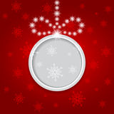 Glowing shiny christmas background with ball. Vector Stock Image