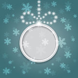 Glowing shiny christmas background with ball. Royalty Free Stock Image