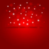 Glowing shiny christmas background with snowflakes. Vector Royalty Free Stock Photography