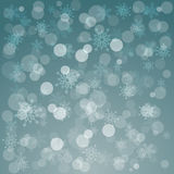 Glowing shiny christmas background with snowflakes. Vector Royalty Free Stock Photos