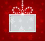 Glowing shiny christmas background. Vector Royalty Free Stock Photography