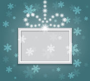 Glowing shiny christmas background. Stock Images