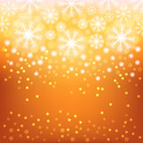 Glowing shiny christmas background. Vector eps10. Abstract background with bokeh. Bright background with snowflake . Christmas design . Vector Illustration Vector Illustration