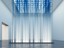 Glowing showcase. Art installation. 3d rendering Stock Images