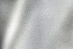 Glowing silver wave metal wall, abstract texture background royalty free illustration