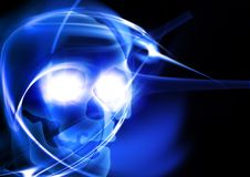 Glowing skull Stock Image