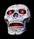 Glowing Skull. Skull with glowing red eyes Stock Image