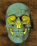 Glowing Skull Background Stock Image