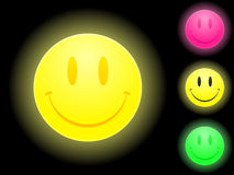 Glowing smiley face. Icon collection royalty free illustration