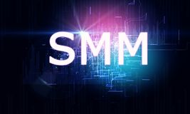 Glowing SMMM background royalty free illustration