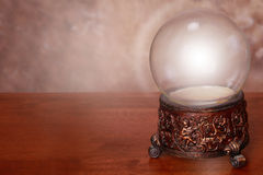 Glowing Snow Globe. Glowing Empty Snow Globe, Digitally fill with any image, space for text. Good Card background royalty free stock image