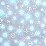 Glowing snow on grey vector background Stock Photo