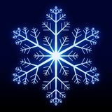 Glowing Snowflake Stock Photos