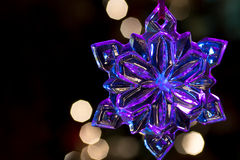 Glowing snowflake Royalty Free Stock Images