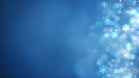Glowing snowflakes abstract christmas background Royalty Free Stock Images