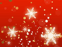 Glowing Snowflakes Christmas Background Stock Photos