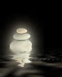 Glowing Spa Stones Abstract Royalty Free Stock Photo
