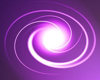 Glowing space spiral Royalty Free Stock Images