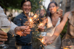 Glowing sparklers Royalty Free Stock Photo