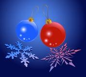 Glowing sparkling balls Royalty Free Stock Image