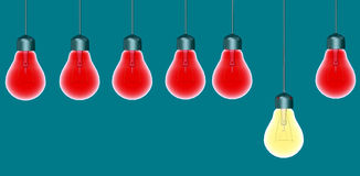 Glowing Special Light Bulbs Royalty Free Stock Images
